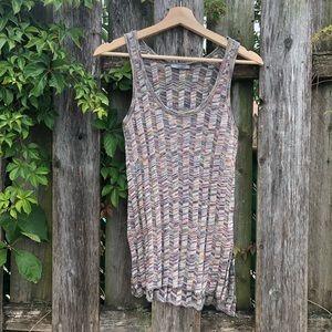 Zara space dye sweater tank top